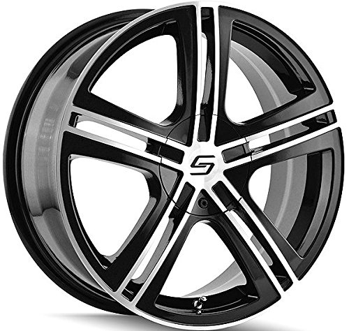 Sacchi S62 16 Black Wheel / Rim 5x110 & 5x115 with a 40mm Offset and a 72.62 Hub Bore. Partnumber 262-6711B (Cadillac Cts 2006 Rims compare prices)