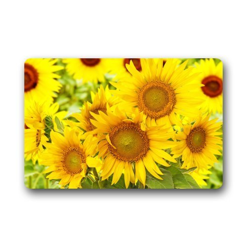 (Shirley's Door Mats High Quality Photo Of Sunflowers Home Doormats Top Fabric&Rubber Durable Living Room Bedroom Home Indoors/Outdoors Home Doormats Top Fabric&Rubber Mat Floor Mat Rug (23.6