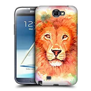 Lion Watercoloured Animals Case For Samsung Galaxy Note 2 Ii N7100