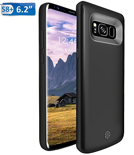 Price comparison product image 6500mAh Battery Case for Samsung Galaxy S8 Plus,  Vproof Portable Charger Charging Case Rechargeable External Battery Protective Cover case for Galaxy S8+ (Black)