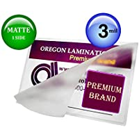 Matte/Clear 4X6 Photo Laminating Pouches 3 Mil 4-1/4 x 6-1/4 [pk of 100]
