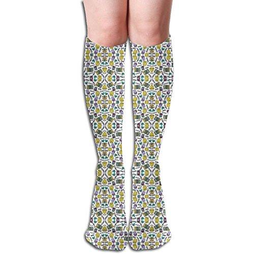 Book Club Girl - HGHGJ Book Club Fabric (2623) Womens And Girls Compression Socks Knee High Crew Socks Sport Athletic Crew Socks