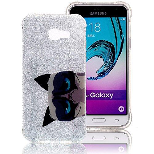 Funda Galaxy A3 (2017) , Extremamente Fina y Ligera de Perfecta para Samsung A3 (2017) la Más Delgada Glitter Funda TPU Silicona Protectora de Parachoques con una Cubierta Trasera Semitransparente Caj A-09