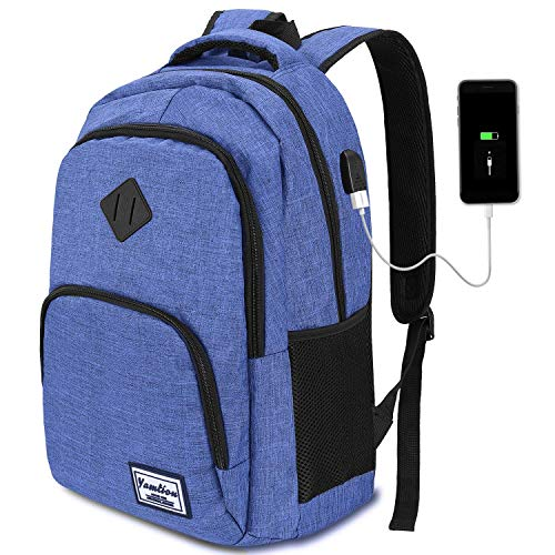 Bookbag for Teen Boys,School Backpack for High School Student,Computer Backpack with USB Charging Port Fits 15.6 inch Laptop