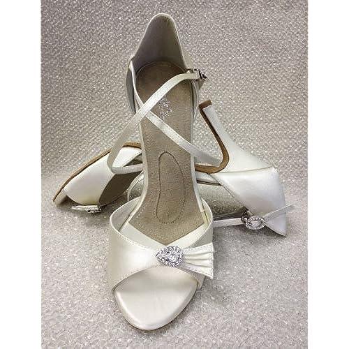 """60%OFF Angela Nuran Ladies Fancie Bridal Dance Shoe-3.5"""" Slim Heel"""