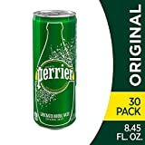 Perrier Sparkling Mineral Water, 8.45 fl oz. Slim Cans (Pack of 30)