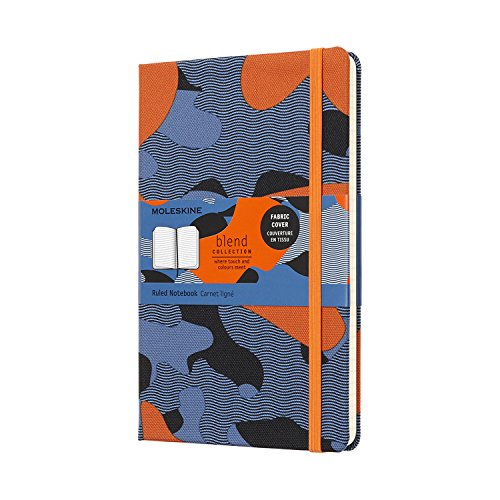 Moleskine Limited Collection - Cuaderno (grande, rayas, camuflaje naranja, tapa dura, 5 x 8,25)
