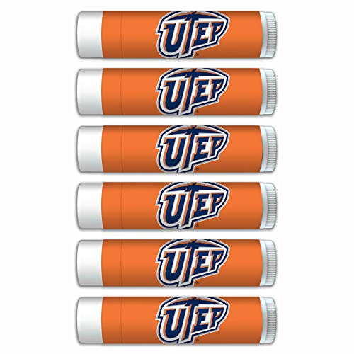 Texas El Paso Miners Premium Lip Balm 6-Pack with SPF 15, Beeswax, Coconut Oil, Aloe Vera. Gifts for Men and Women, Valentine's Day, Easter, Mother's Day, Father's Day, stocking stuffers. ()