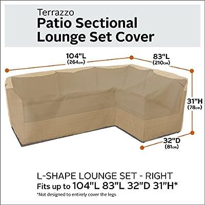 Classic Accessories 56-050-012001-EC Terrazzo Sectional Sofa Cover