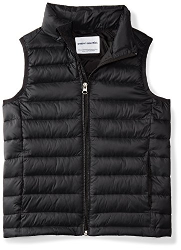 ys' Lightweight Water-Resistant Packable Puffer Vest, Black, X-Small ()