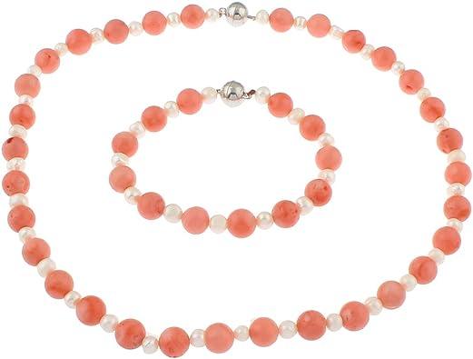 TreasureBay elegante, colore: rosa corallo e perle d'acqua