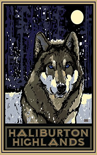 haliburton-highlands-timberwolf-travel-art-poster-by-artist-18x24-art-print-for-bedroom-living-room-