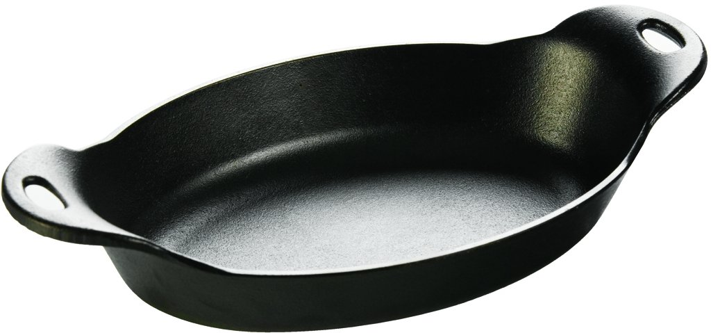 Lodge Tableware Cast Iron Oval Pre-Seasoned Serving Dish 36 Ounces