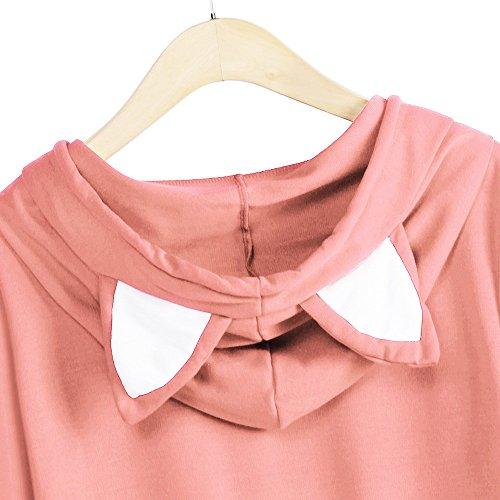 Femme Taille Shirt Blouses Femme Capuche Femme Imprim U Orange Longues Femme Weant Col Sweat Grande Femme Manches Pull Pull Gilet Chemisiers a Dcontract et Chic Veste Chemisier qxBqRaXw