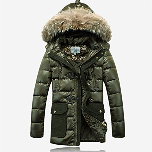 winter hooded green The long a coat HHY XL man in 6xP5Cqxw