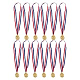 12-Pack Gold Medals for Swimming - Swimming Medals - Winner Medals, 2 Inches in Diameter with 30-Inch Ribbon