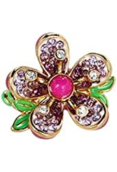 JUICY COUTURE R-PAVE FLOWER RING . STYLE#YJRU6547