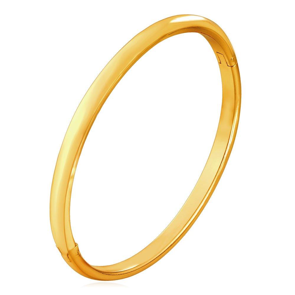 U7 Women Bangle Simple Classic For Wedding Rose Gold/Platinum/Black/18K Gold Plated Cuff Bracelet, 4 Colors U7 Jewelry U7 H5121H