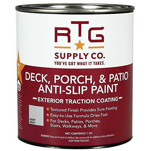 Porch Deck Paint (RTG Deck, Porch, & Patio Anti-Slip Paint (Quart, Light Gray))