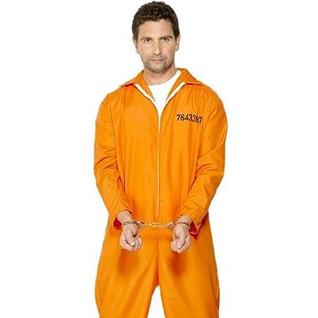 Generique - Disfraz de preso para Hombre Naranja M: Amazon.es ...