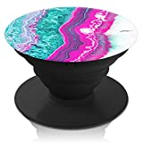 PopGrips Smartphone Expanding Stand and Grip, Premium 3M Phone Accessories, Galaxy S7/S7 Edge/iPhone SE/6/6+/6S/7/7+ Plus Tablets, Amazon Fire/iPad/iPad Mini (Pink Teal Geode)