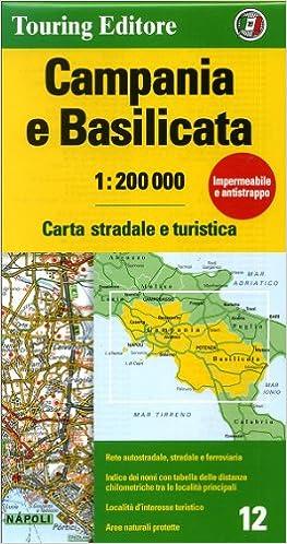 Cartina Calabria E Basilicata.Campania E Basilicata Carta Stradale E Turistica 1 200 000