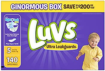 140 Count Luvs Ultra Leakguards Diapers Size 5
