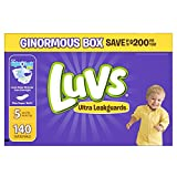 Health & Personal Care : Luvs Ultra Leakguards Disposable Diapers Size 5, 140 Count, ONE MONTH SUPPLY