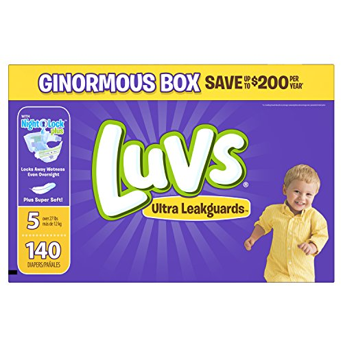 Luvs Ultra Leakguards Diapers, Size 5, 140 Count