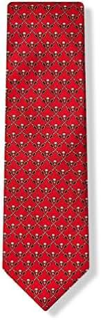Red 100% Silk Lacrosse Sticks & Skulls Necktie Tie Neckwear -Lacrosse or Die