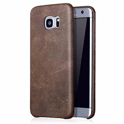 Mobile Phones & Accessories - Bakeey Retro Soft Leather Ultra Thin Shockproof Cover Galaxy Edge - Slim Lawsuit Skinny Suit Slender Instance Weak Example Flimsy Type Flat Subject - - Colours Pale Skin Best For