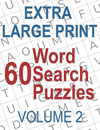 60 Extra Large Print Word Search Puzzles: Big Font Find a Word for Adults &  Seniors, Volume 2