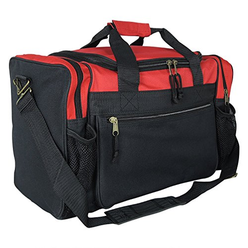 "ProEquip 17"" Sport Gym Duffle Bag Travel Size Sport Durable Gym Bag (Red)"