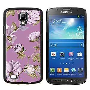 - Purple Retro Floral Photo Print/ Duro Snap en el tel??fono celular de la cubierta - Cao - For S4 Active I9295 (Do Not Fit S4)