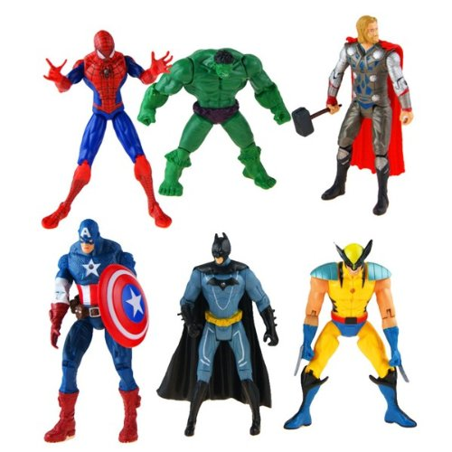 6 Movie Super Heros Collection Set of 6 Action Figures