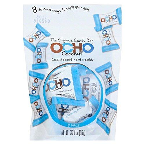 - Ocho Coconut Candy Bars 3.38 oz, one bag