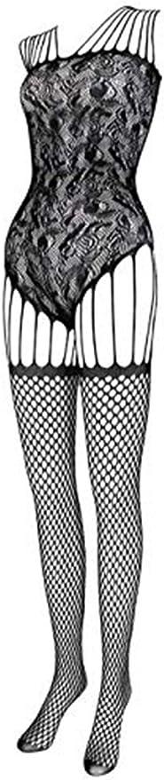 JAZZUP Women Fishnet Bodystocking Bodysuit Exotic Lingerie High Elasticity Nightwear