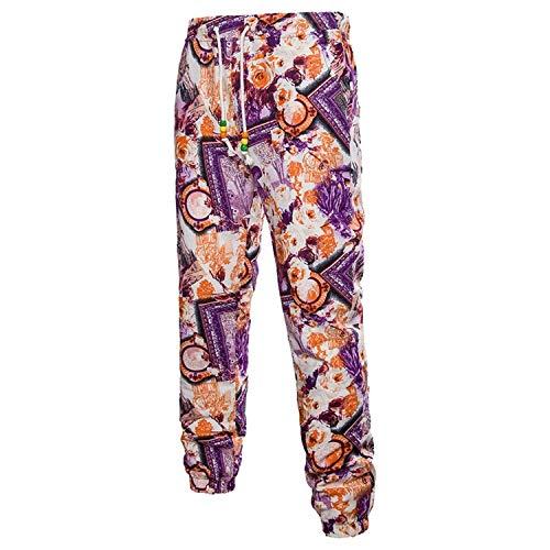 Joggers 3d Sueltos Largos Ocasionales Florales Sweatpants Esencial Deportivos Hombre Para Vintage Pantalones Verano Estampados Lino De 1rxXrq4