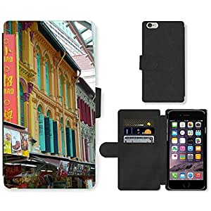 Hot Style Cell Phone Card Slot PU Leather Wallet Case // M00169644 Singapore Chinese Sector Pastel // Apple iPhone 6 PLUS 5.5""