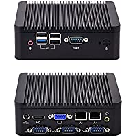 Quad core Mini PC with 2GB RAM 500GB HDD, support mSATA SSD, Fanless Mini PC with 2 LAN and 4 COM ports