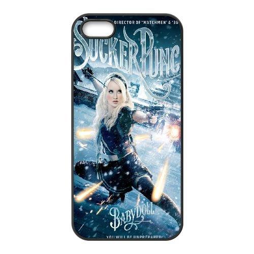 Baby Doll Sucker Punch 9 coque iPhone 5 5S Housse téléphone Noir de couverture de cas coque EBDOBCKCO11237