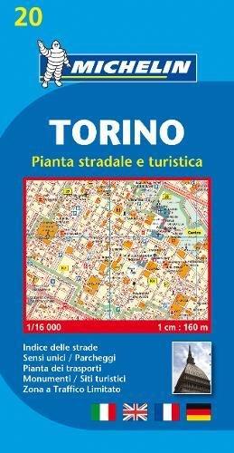 Michelin Torino: Stadtplan 1:16.000 (MICHELIN Stadtpläne, Band 20)
