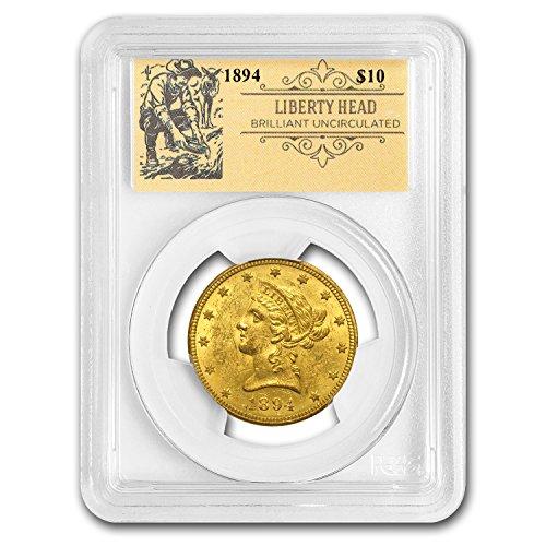 - 1837 - 1907 $10 Liberty Head Double Eagle BU PCGS (Random, Prospector Label) G$10 Brilliant Uncirculated PCGS