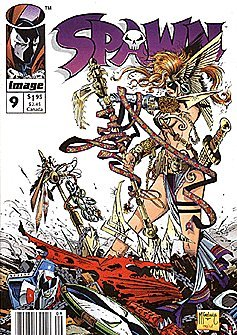Spawn #9 (1992 series) Newsstand Edition with UPC Code First Appearance of Angela
