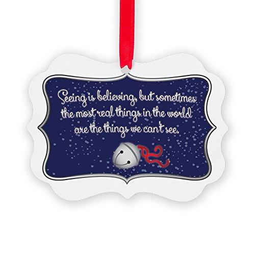 CafePress Polar Express Quote Christmas Ornament, Decorative Tree Ornament