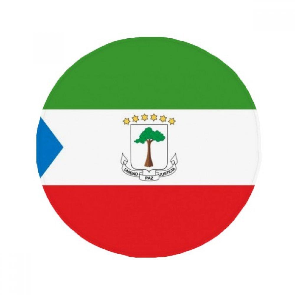 60X60cm DIYthinker Equatorial Guinea National Flag Africa Country Anti-Slip Floor Pet Mat Round Bathroom Living Room Kitchen Door 60 50Cm Gift