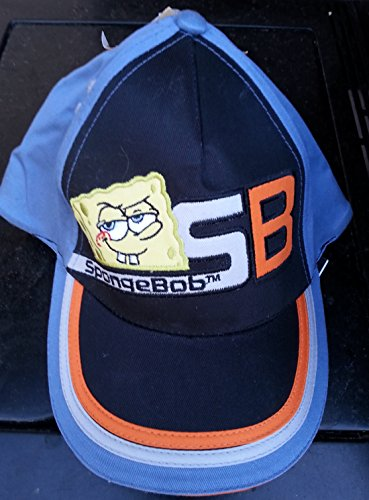 Spongebob Squarepants Baseball Cap Blue Black Hat Kid Boy Gift Girl