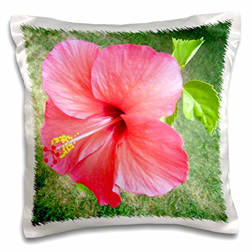 3dRose pc_18574_1 Beautiful Large Hibiscus-Pillow Case, 16 by (Hibiscus Pillow)