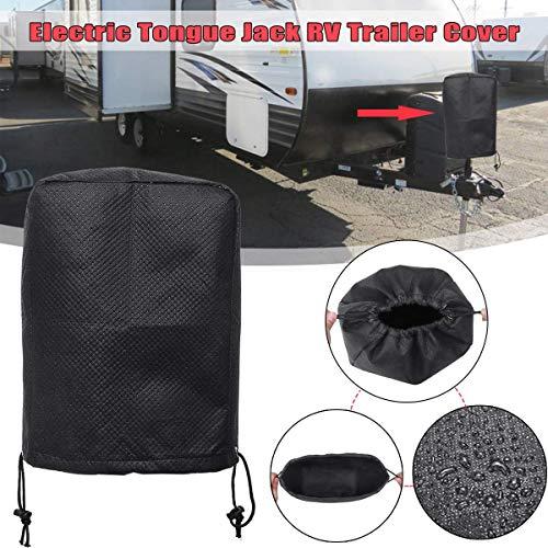 Waterproof Jack - Star-Trade-Inc - Universal Black RV Electric Tongue Jack Cover Protector for Travel Motorhome Trailer for Camper Waterproof
