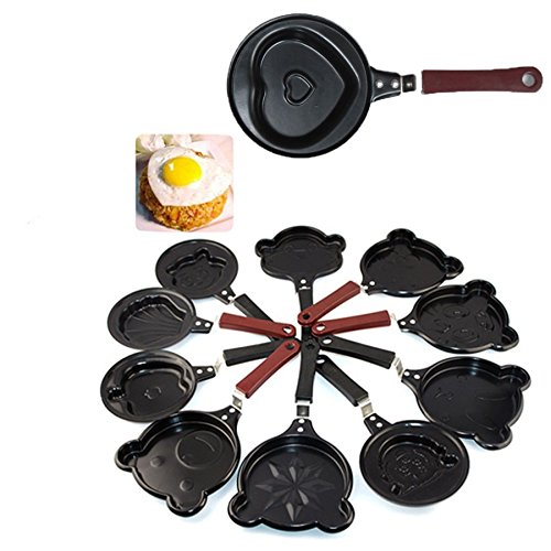 Gaorui DIY Nonstick Frying Pan Heart Shaped Egg Pan